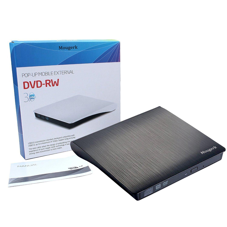 External DVD CD Drive, Mougerk USB 3.0 Ultra Slim Drives CD DVD RW Player/ DVD CD ROM Drive / Writer / Rewriter / USB CD Burner For Mac Macbook Pro, Laptops Desktops by Mougerk (Image #6)