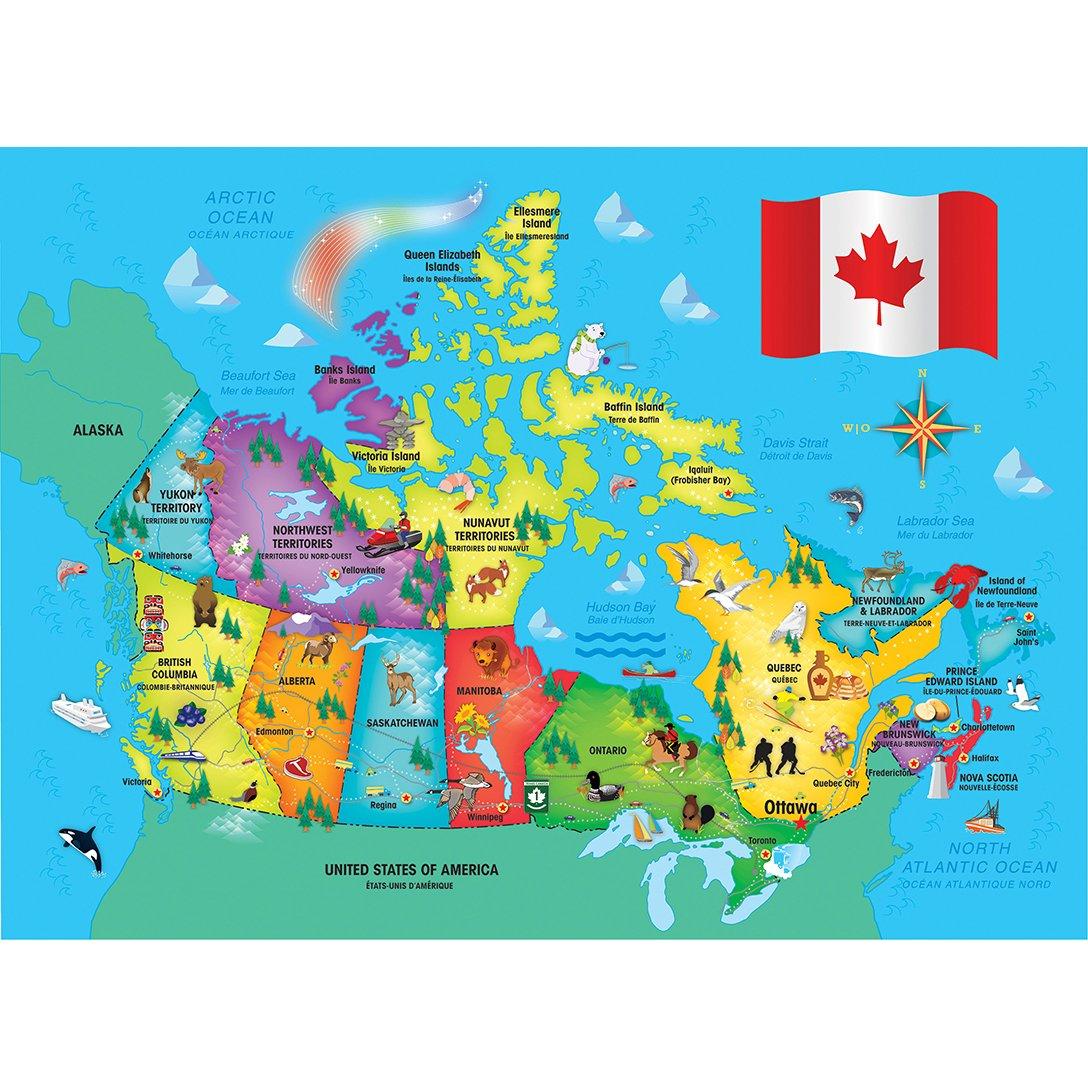 Map Of Canada Davis Strait.Masterpieces Explorer Kids Canadian Map 60 Piece Kids Puzzle