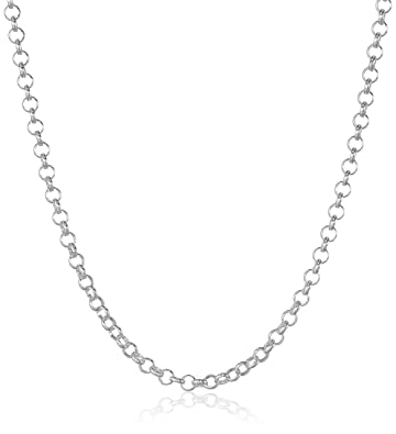 available double hollow rhodium more rolo length necklace chain to chains gold white accent views plated