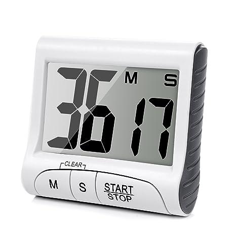 Temporizador Digital Time de Cocina Magnético LCD Grande Digital Cocina Temporizador Alarma Contar Hasta y Abajo
