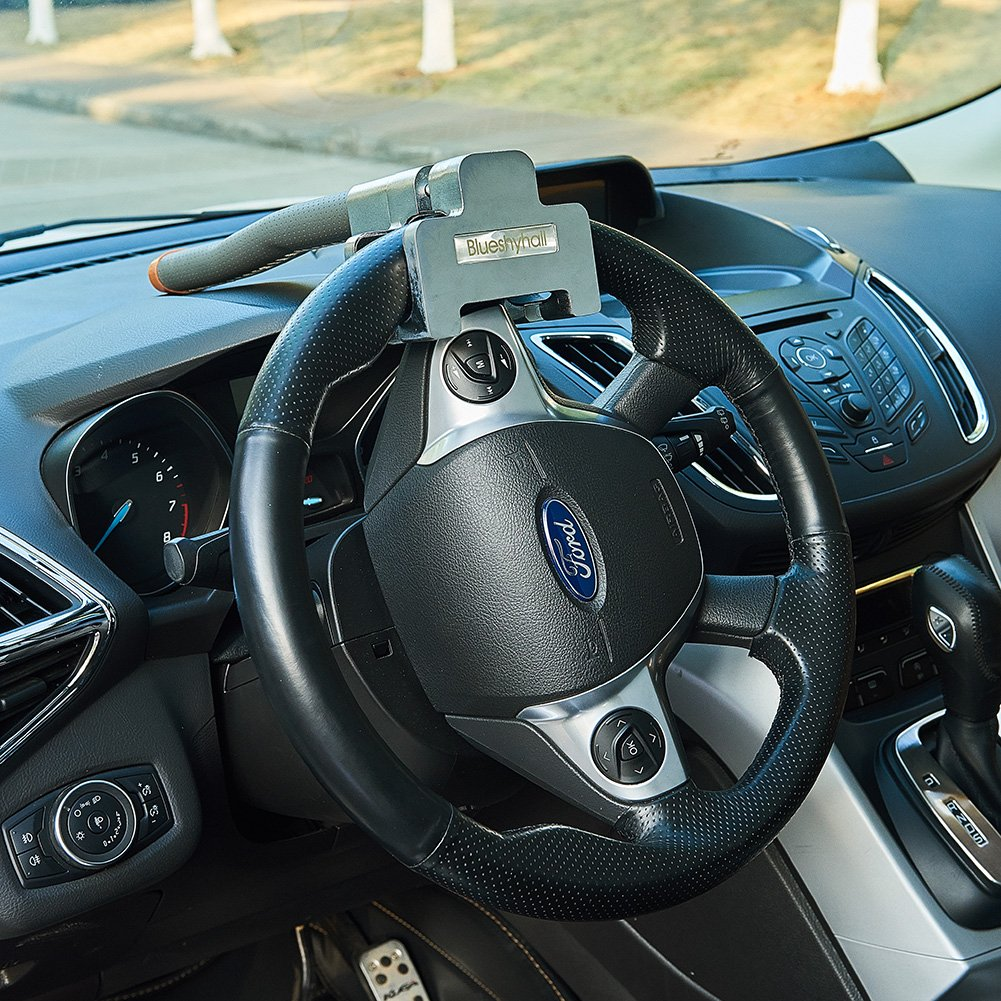 Blueshyhall Brown Professional Antitheft Locking Devices Steering Wheel Lock with Keys