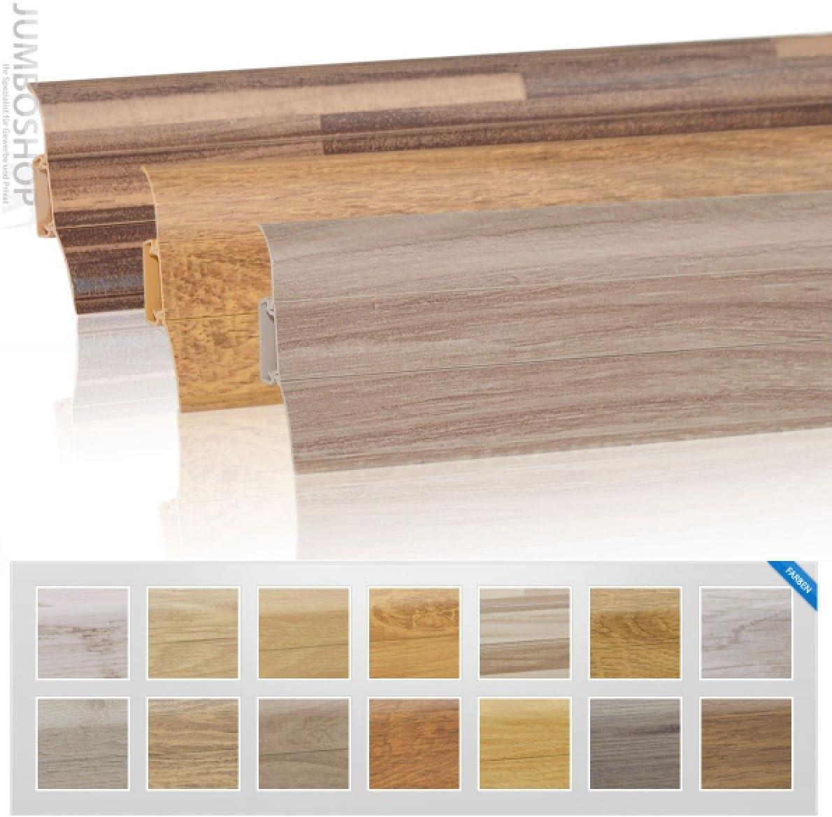 HOLZBRINK Plinthe Souple Autoadh/ésive Cendr/é Plinthe pliable 32x23 mm 5 m
