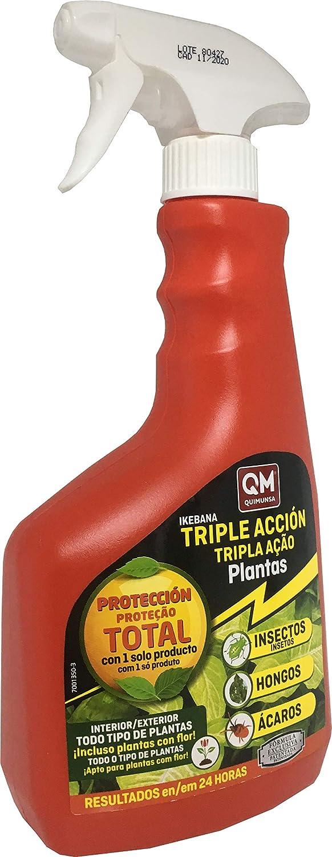 Spray Insecticida Triple acción 750ml contra Insectos,Hongos y ácaros