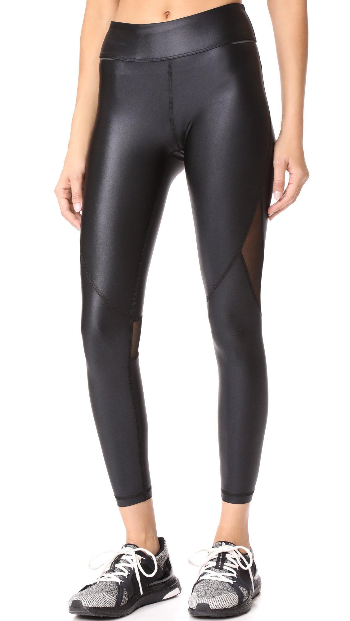 ALALA Women's Captain Ankle Leggings, Black/Liquid Black, Large