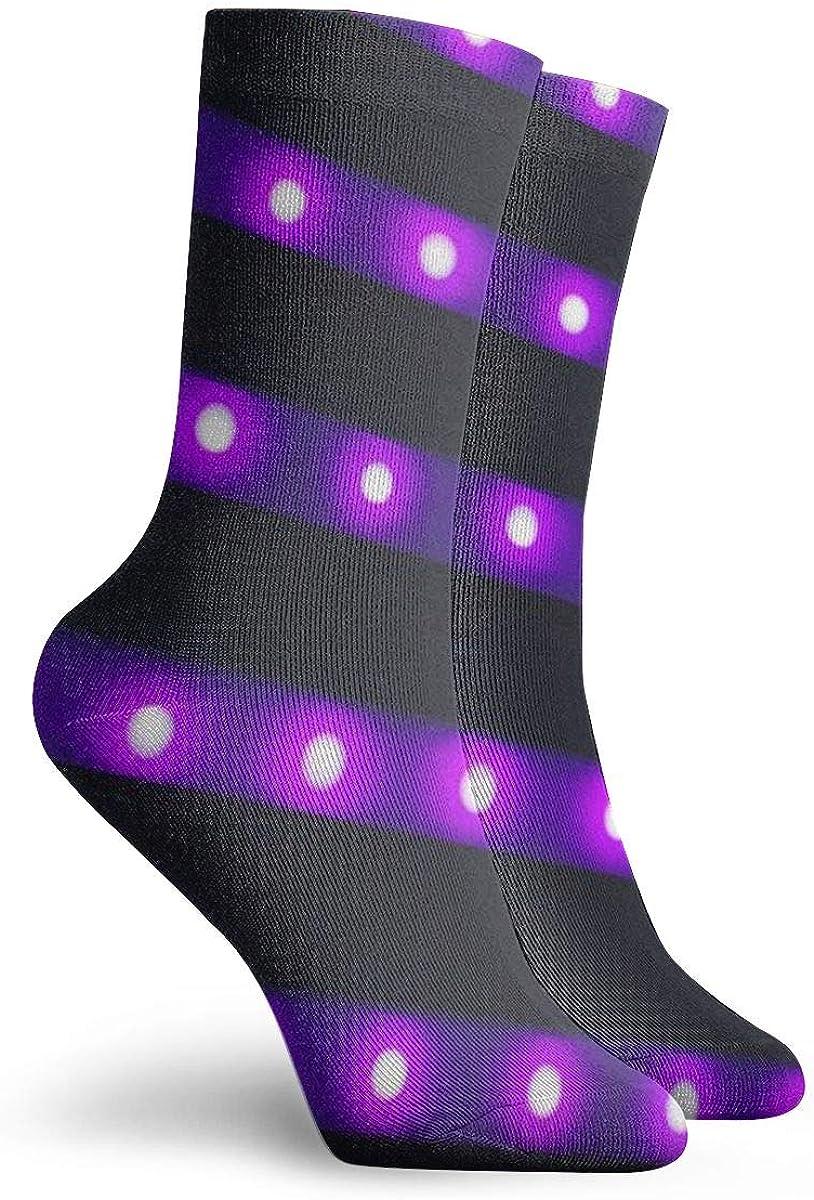 cyclisme course /à pied OUYouDeFangA Bandes lumineuses /à LED violettes pour adultes Chaussettes de sport en coton pour yoga randonn/ée football