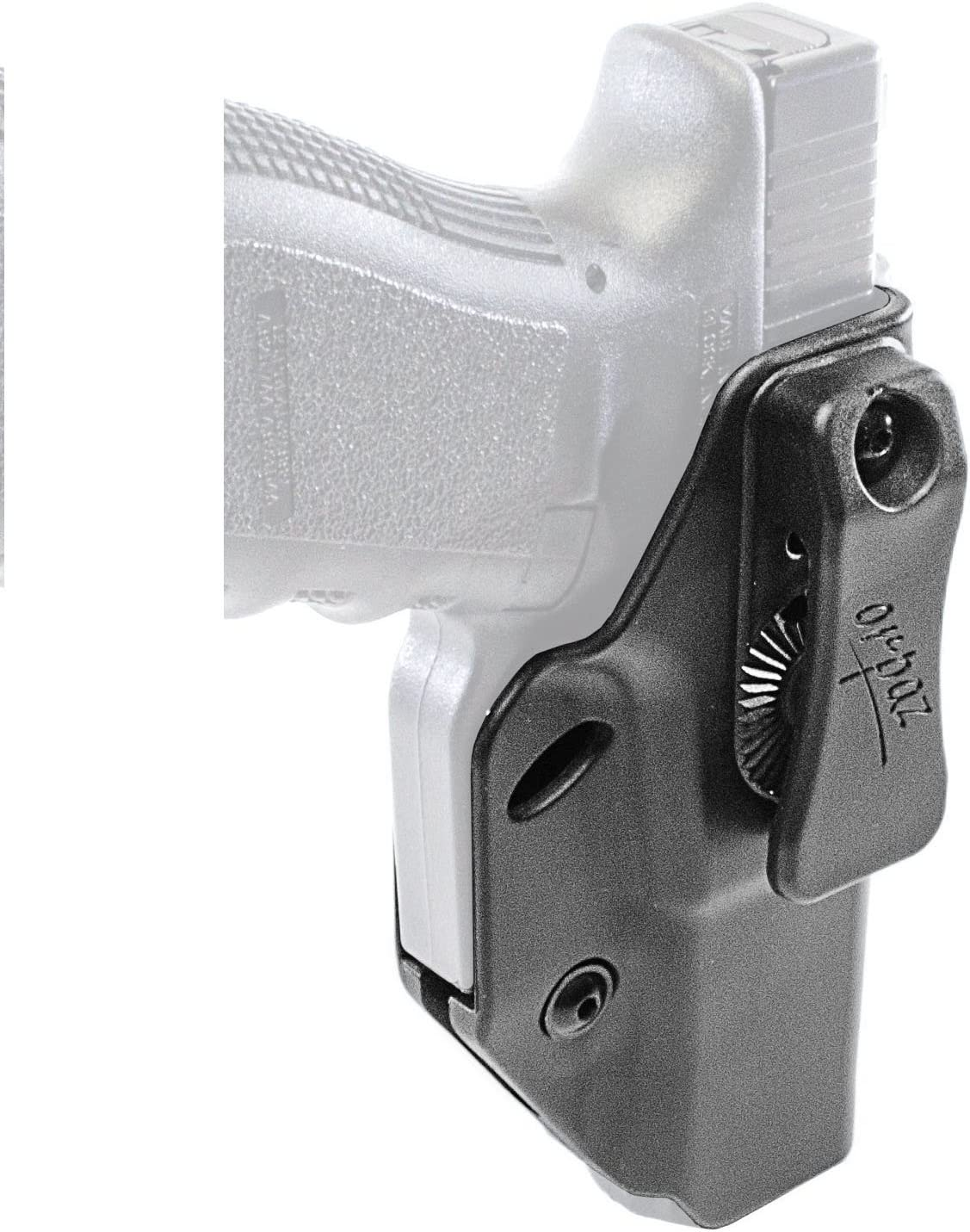 Orpaz Defense Holster étuide Seguridad táctico polivalente, IWB & OWB, Izquierda/Derecha Transporte Oculto Retention de Altura Ajustable y Ajuste con Clip de cinturón para Glock Pistola 17/19/22/