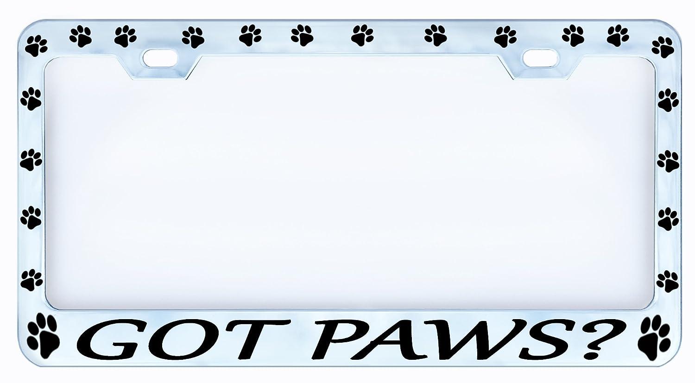 GoT Pfoten? Hund Katze Haustier chrom Auto KFZ Nummernschild Rahmen ...