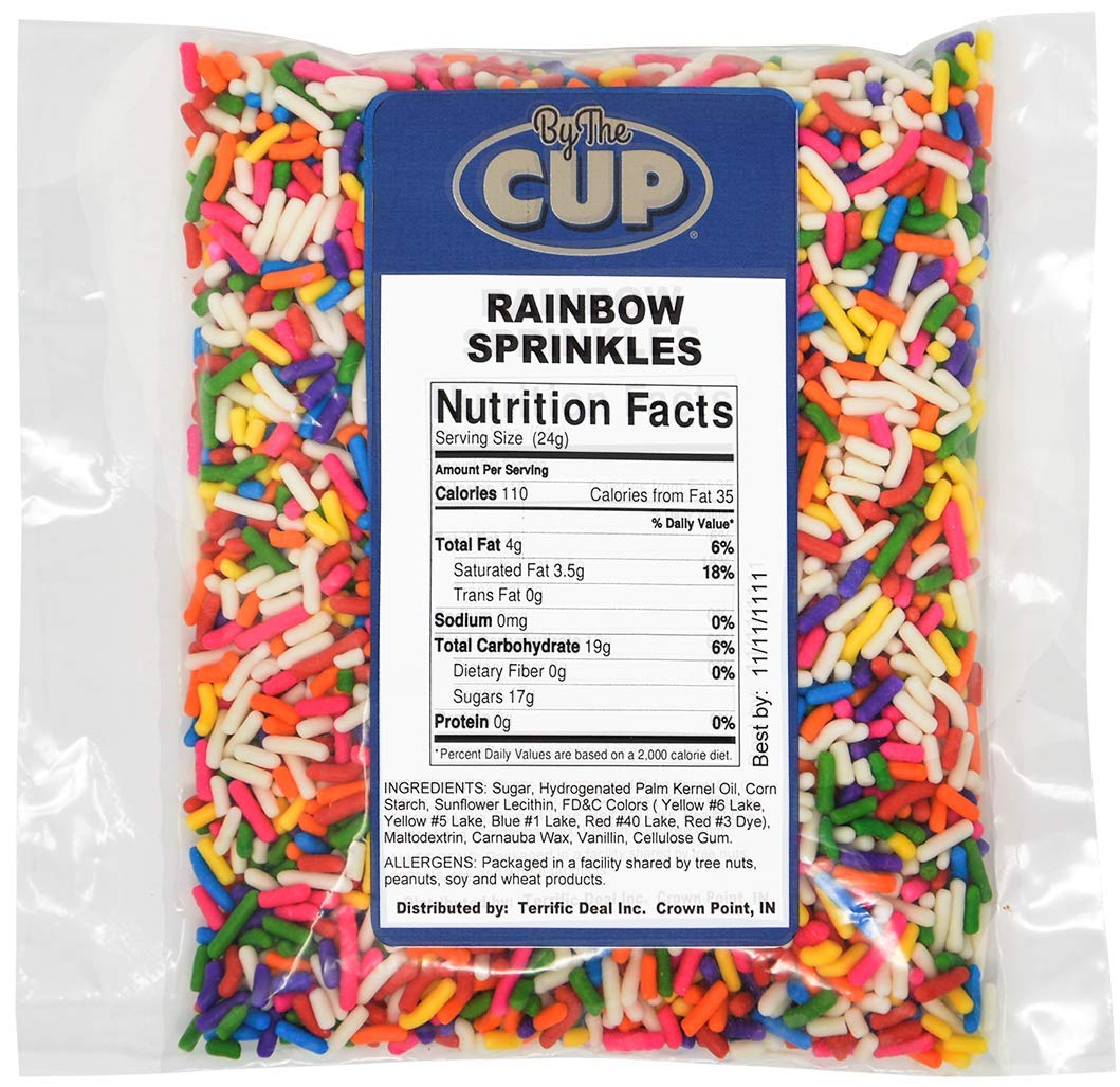 Dole Pineapple Lactose-Free Soft Serve Mix 4.4 Pound Bulk Bag (Pack of 4) with By The Cup Rainbow Sprinkles by By The Cup (Image #4)