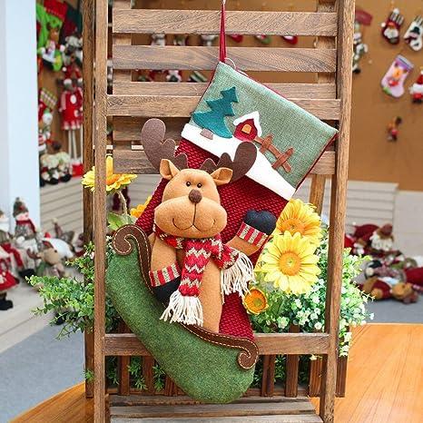 Adornos Navideños Grandes Calcetines de Navidad Calcetines Festivos Muñecos de Nieve Navideños Calcetines de Navidad Calcetines