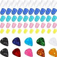 50 Piezas Protector de Dedos de Silicona de Guitarra, Tapas Protectoras de Color de Puntas de Dedos en 5 Tamaños para…