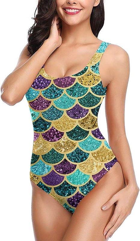 HNSenYa Women Bathing Suits Girly Pink Flower One Piece Swimsuit Bikini 3D Print Funny