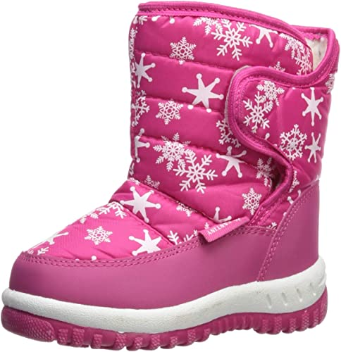 CIOR Fantiny Winter Snow Boots for Boy and Girl Outdoor Waterproof with Fur  Lined(Toddler/Little Kids) TX4-Pink-23: Amazon.co.uk: Shoes & Bags