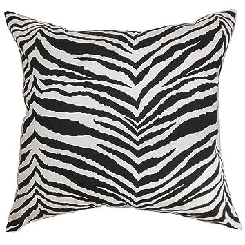 Amazon.com: The Pillow Collection Cecania Zebra - Almohada ...