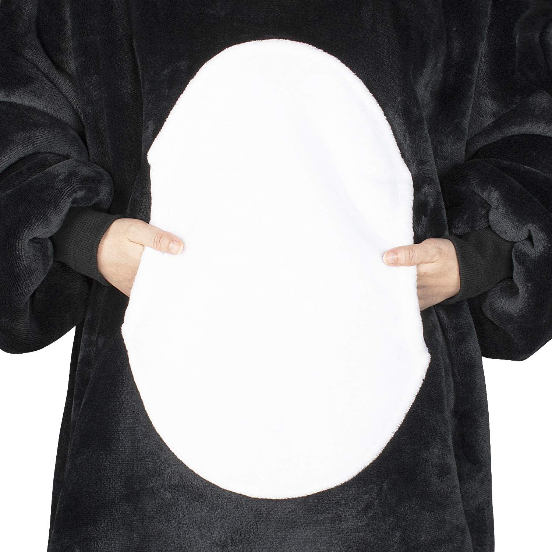 Catalonia Classy B/är /übergro/ße Sherpa Hoodie Decke Sweatshirt f/ür Frauen Mann Super weich warm komfortabel s/ü/ß Riesen Pullover mit gro/ßer Fronttasche f/ür Erwachsene