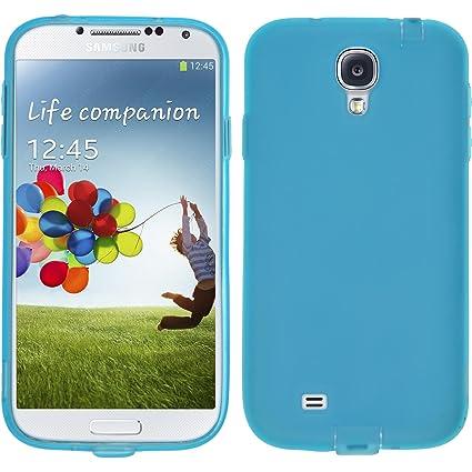 PhoneNatic Funda de silicona para Samsung Galaxy S4 - Dustproof azul - Cover Cubierta + protector de pantalla