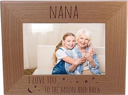 Amazon.com - Nana I Love You To The Moon And Back 4-inch x 6-Inch ...