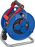 Brennenstuhl Garant IP44 Kabeltrommel (20m - Spezialkunststoff, kurzfristiger Einsatz im Außenbereich, Made In Germany) blau