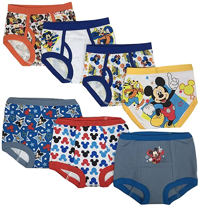 Mickey Mouse Toddler Boys/' 3pk Training Pants and 4pk Briefs COMBO PACK