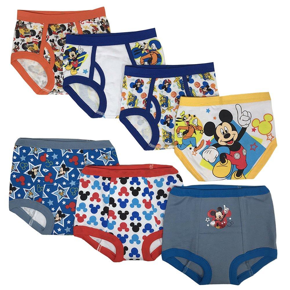 Disney Boys Toddler Boys Mickey 3pk Training Pants & 4pk Briefs TBUP7288