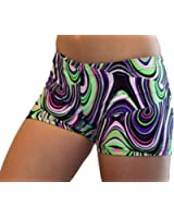 "GemGear Swirl Print 6"" Inseam Compression Shorts"