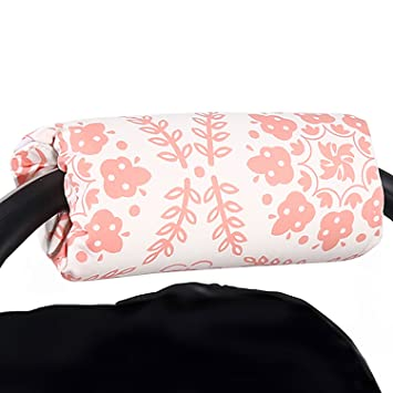 58aabba46e7 Amazon.com   Coral Pink Medallions Car Seat and Baby Carrier Cushion by The  Peanut Shell   Baby