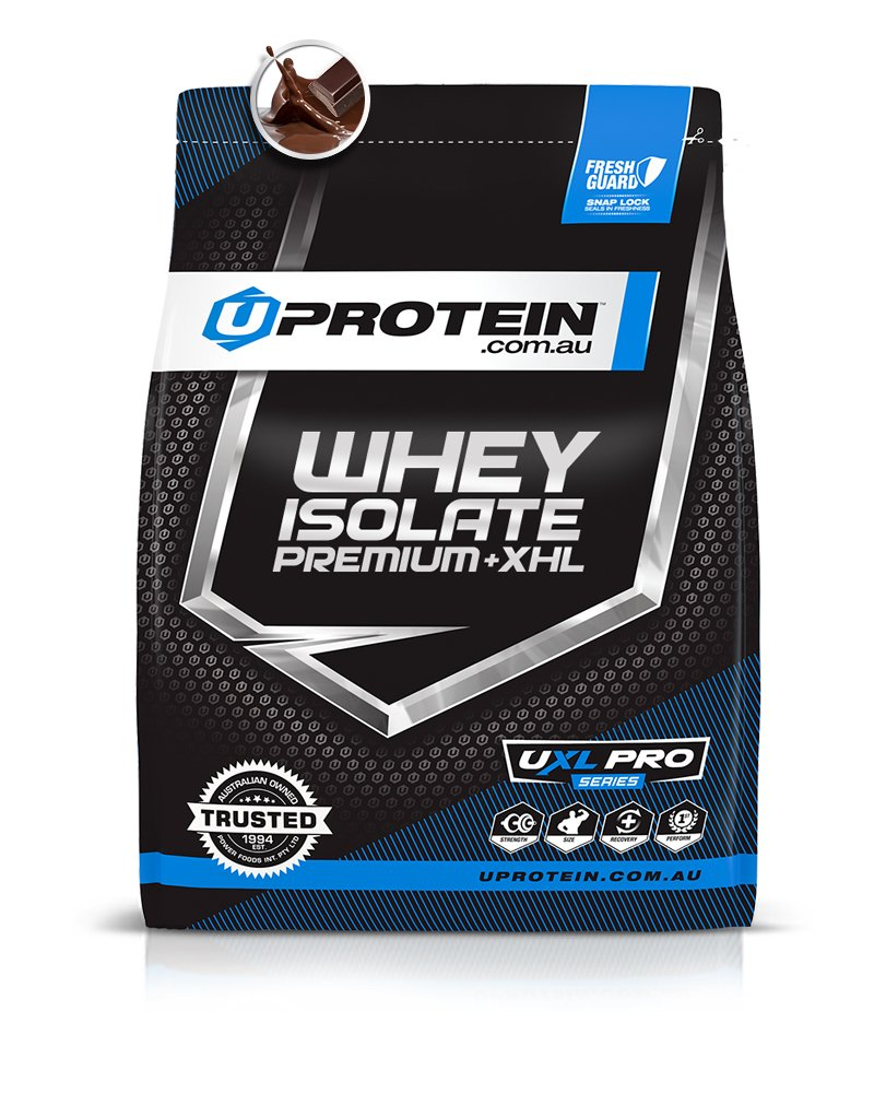 Double Choc Upredein Whey Predein Isolate Premium + XHL, Double Choc, 2kg (50 Serves)   Advanced WPI Formula with Enzymes   Lean Muscle, Ultra Low Carb for Men & Women