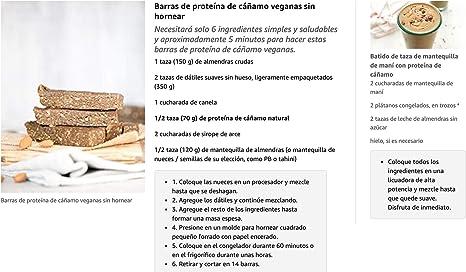 Proteina de Cañamo (50%) en Polvo Organico/Ecologico Bio SAMSKARA SUPERFOODS Organic/Ecological Bio Hemp Protein Powder (50%)