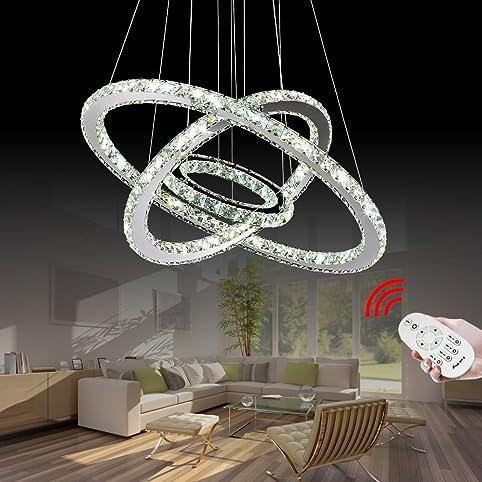 VINGO® 96W Warmweiß Weiß Kaltweiß 2700 6500K 960 8640LM 3in1 Hängeleuchte  Kronleuchter LED