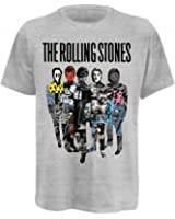 Universal Music Shirts The Rolling Stones - Silhouette Collage Unisex T-Shirt