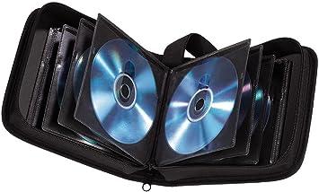 Hama - Estuche porta CD para 32 CD/DVD/Blu-rays, portafolios para guardar CD, negro: Amazon.es: Electrónica