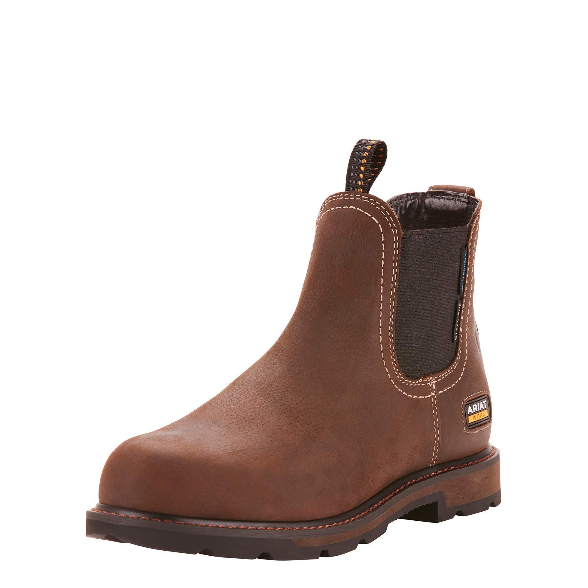 Ariat Work Men's Groundbreaker H2O Steel Toe Western Boot, Dark Brown-1, 10.5 D US by ARIAT