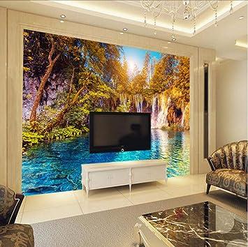 Wallpapers 3d Three-dimensional Nature Landscape Large Decorative Murals 3d Wallpaper Sofa Living Room Tv Background 3d Wallpaper Painting Supplies & Wall Treatments