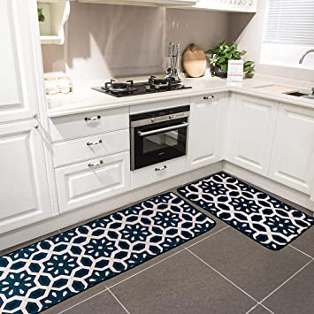 Amazon Com Hihome Kitchen Rugs And Mats Set 2 Piece Non Slip