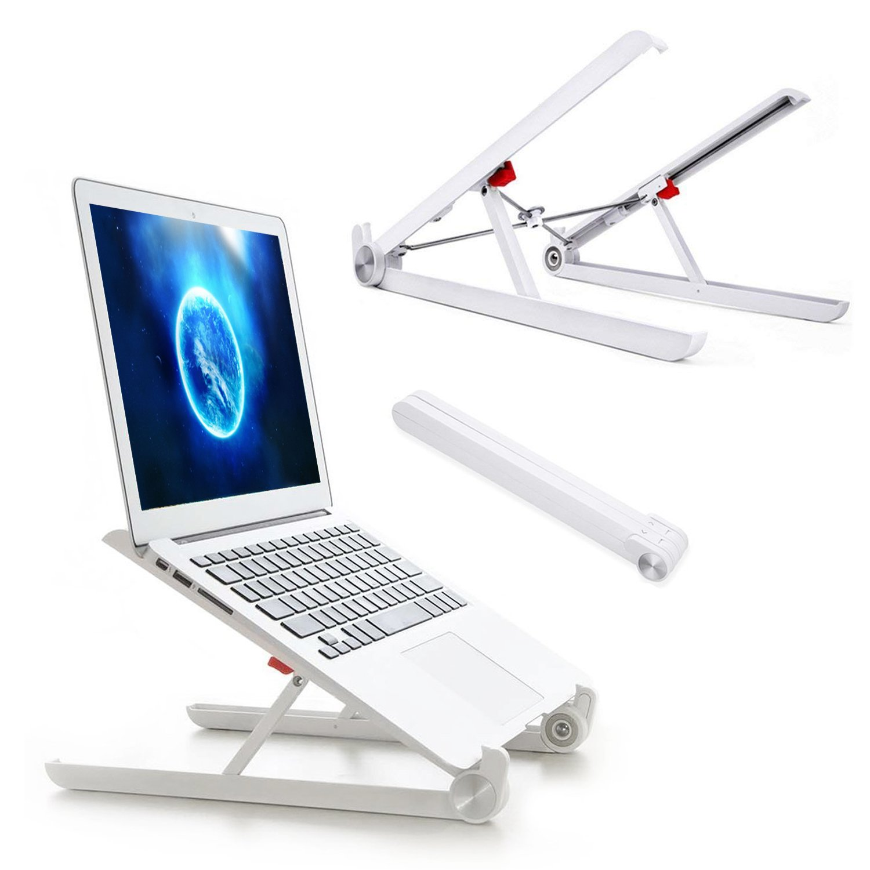 Laptop Stand Adjustable Computer Stands Portable Desktop Notebook Holder Mount Eye-Level Ergonomic Height Laptop Riser for MacBook Dell PC HP ipad Tablet Notebook for Business Travel