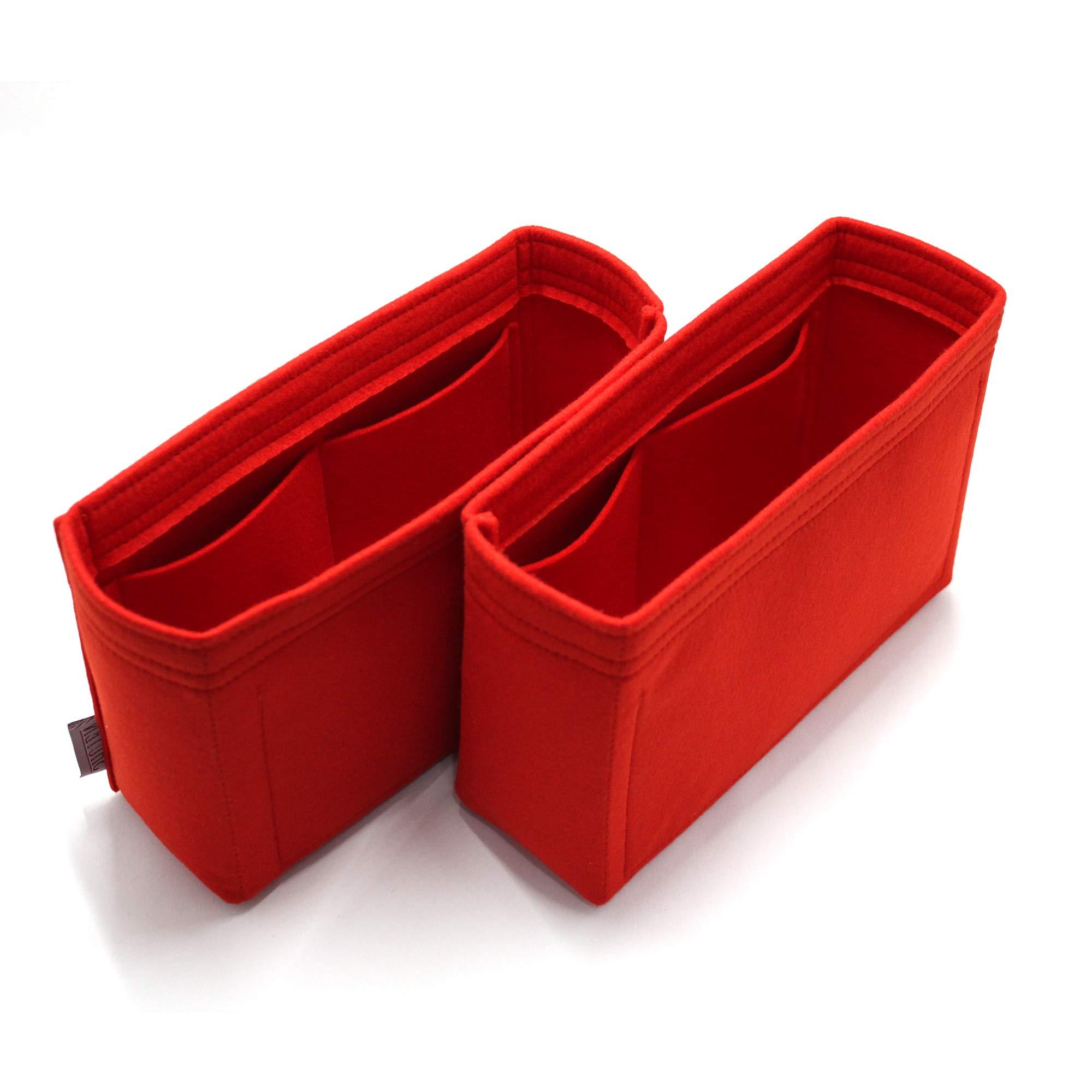 SHUYENTOKYO - for Louis Vuitton NEONOE size ORGANIZER 2mm FELT DIAPER BAG INSERT PURSE SHAPER ORGANIZE (TYPE.1) (1 Set of 2)