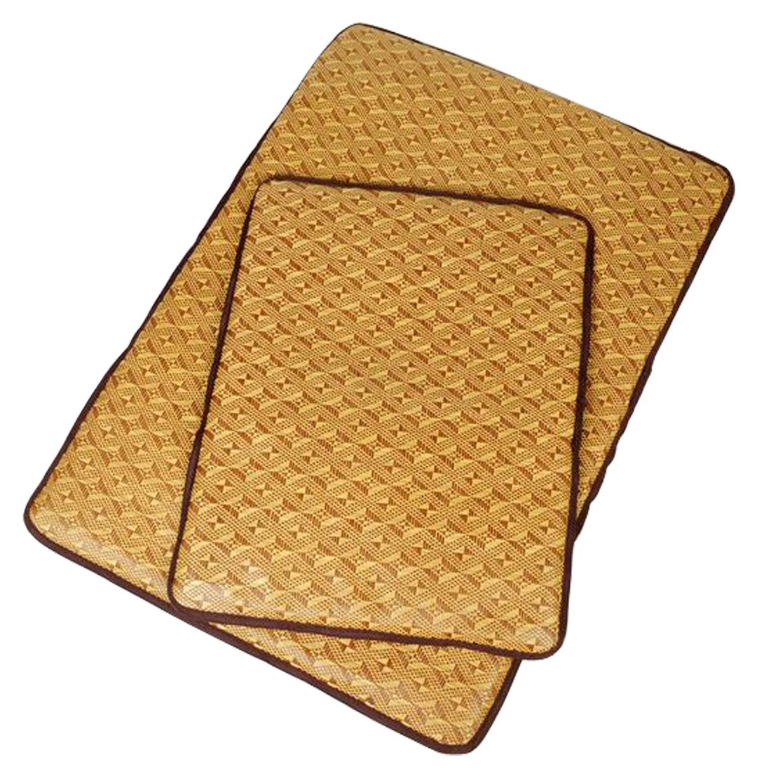 Glield Summer Breathable Bamboo Mat, Cooling Mat Bed for Dogs and Cats, Rectangle, S, M, L Size PD02 (M (70cm 50cm))