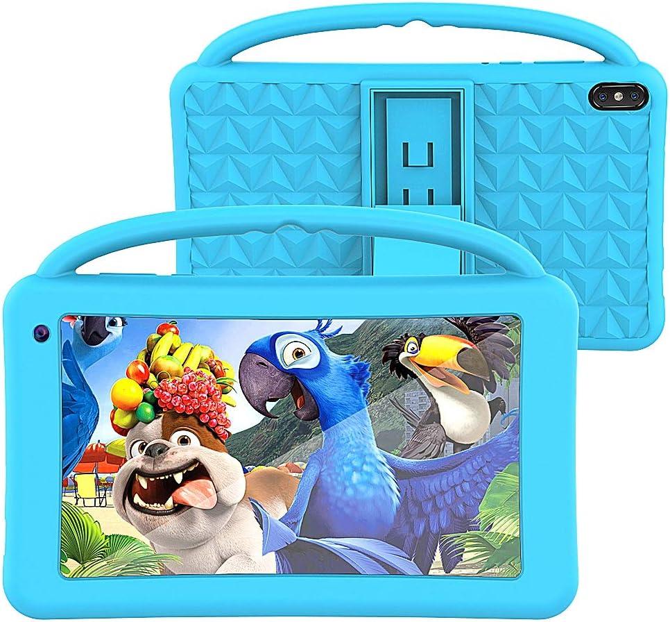 Tableta para Niños Regalo Pantalla IPS De 7 Pulgadas Quad-Core Android 10.0 2GB Ram 32GB ROM Google Play Preinstalado con Estuche A Prueba De Azul GMS Certificado Regalo Juguete para Niños (Azul)