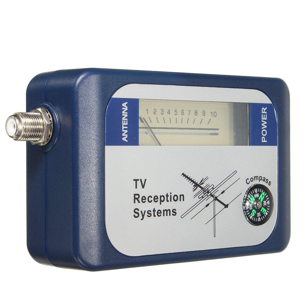 SF95DT DVB-T Finder Digital Aerial Terrestrial TV Antenna Signal Strength Meter Compass
