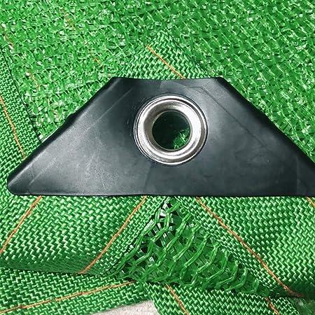 T.heng Borde con Cinta de Tela de Sombra Verde 85% con Arandelas, Cubierta de Malla de Malla Resistente a los Rayos UV for Patio Exterior jardín (Size : 6x6m): Amazon.es: Hogar