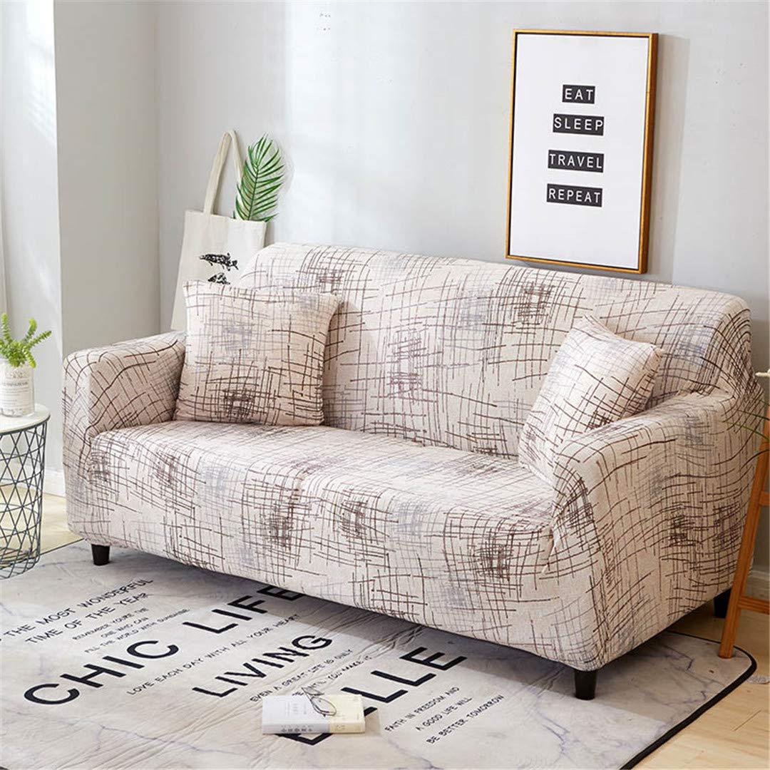 Amazon.com: Beige Stretch Furniture Cover Elastic Sofa Cover ...