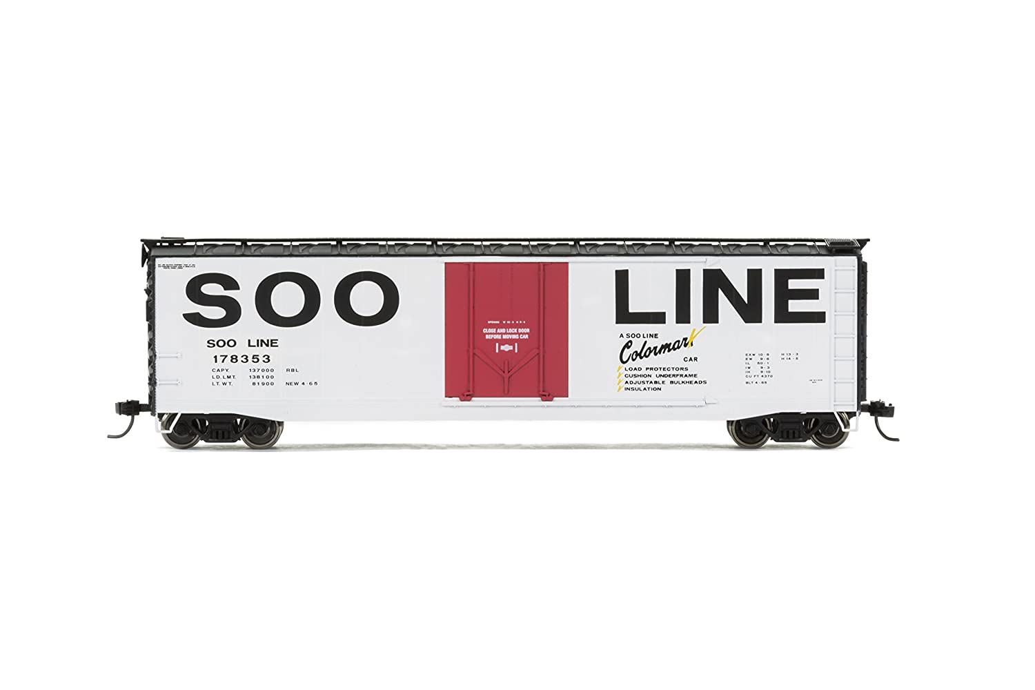 Rivarossi #178353 SOO Line Box Car with Plug Door HO Scale
