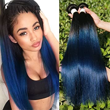 Amazon hanne ombre blue color 1bblue silky straight human hanne ombre blue color 1bblue silky straight human hair extensions 3 pcslot pmusecretfo Image collections