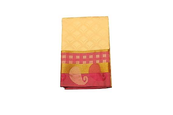 f03f842cf74d68 Vallalar Silks Women s Silk Kanchipuram Saree with Blouse piece (1905234