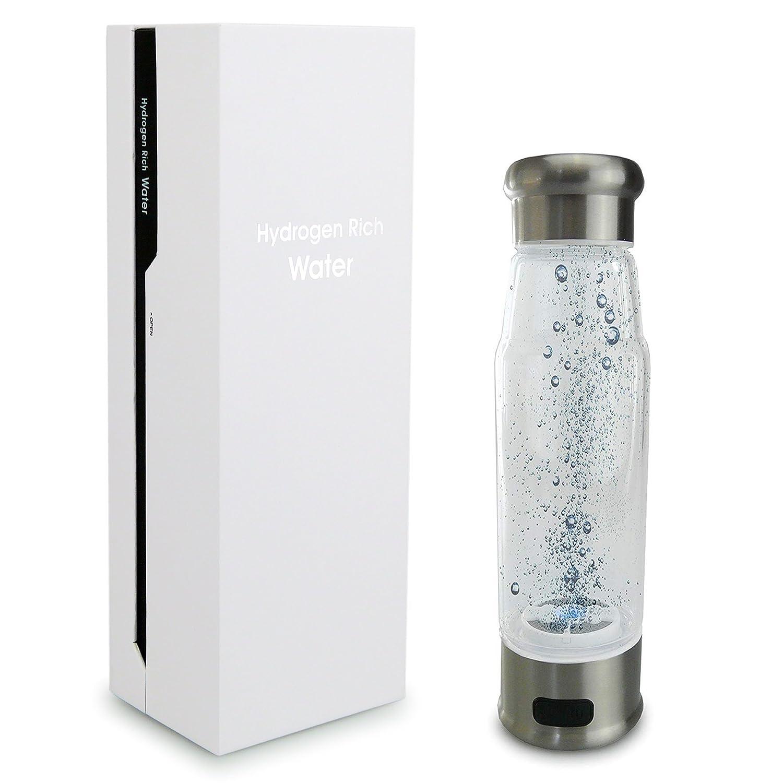 smardy blue H2 Pure Hydrogen Trinkflasche 400ml (600 – 800 ppb) Wasserstoffreiches Wasser Booster, Elektrolyte - Mehr Ausdauer und gegen Muskelkater - ionische Membrane - Titanplatte smardy®