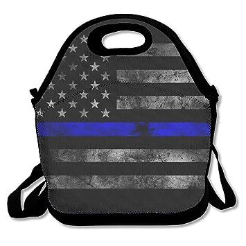 Fina línea azul bolsa para el almuerzo, bolsa, bolsa de ...