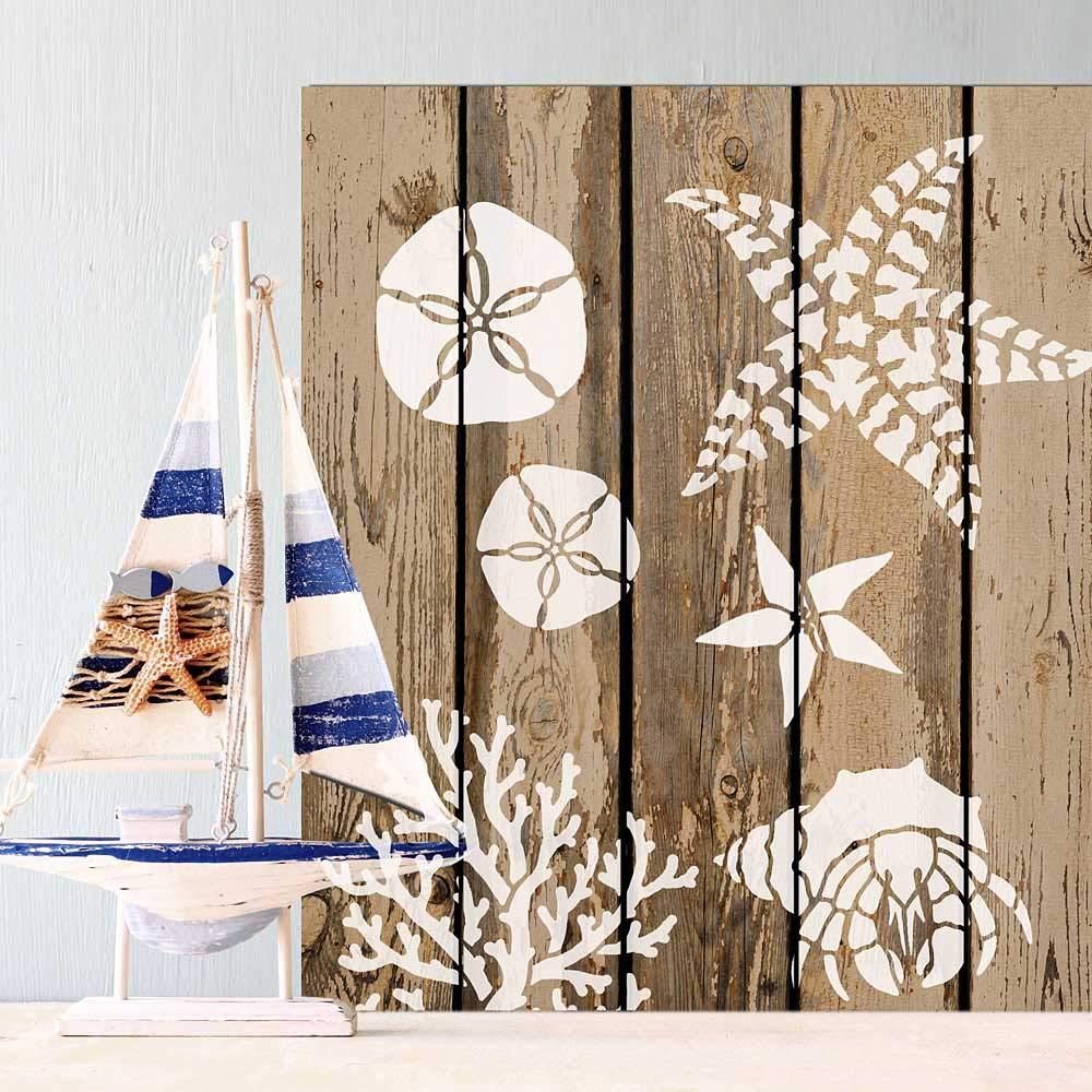 Striped Starfish Ocean Decor Stencil DIY Beach House Decor Reusable Stencils for Home Makeovers Medium