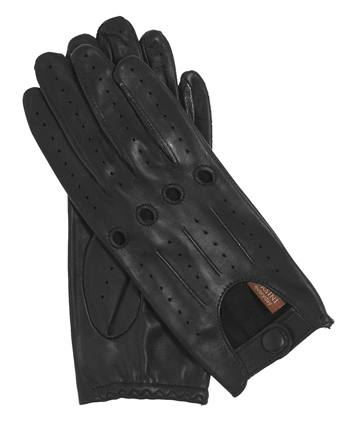 Skin tight leather driving gloves - Fratelli Orsini Everyday Women S Open Back Leather Driving Gloves Size 6 Color Black At Amazon Women S Clothing Store Cold Weather Gloves