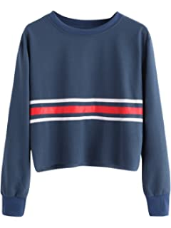 Willow S Women Fashion Casual Sport Sweater Solid Color Back Ribbon Rainbow Long Sleeve Sweatshirt Blouse