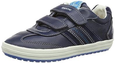 Geox B Kiwi A, Sneakers Basses Bébé Garçon, Marron (Chestnut/Navy), 26 EU