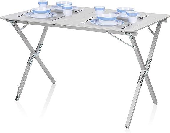 Mesa de camping Campart Travel TA-0802 – 110 x 70 cm – Tablero enrollable